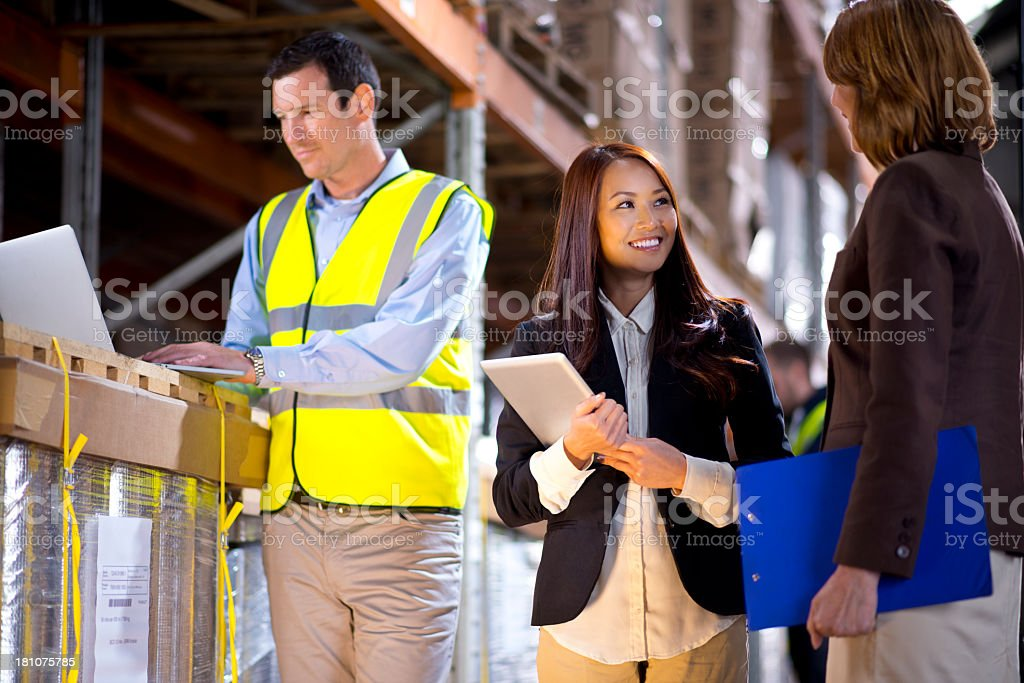 warehouse despatcher royalty-free stock photo