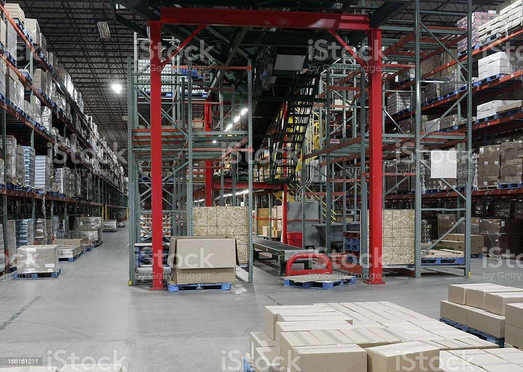 Warehouse distribution center royalty-free stock photo