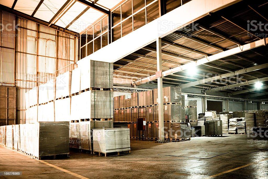 Warehouse distribution center stock photo