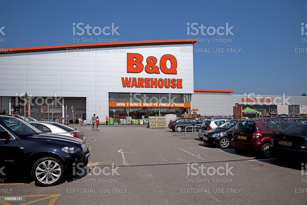 BQ Warehouse DIY Home Improvement Store And Car Park Royalty Free Stock Photo