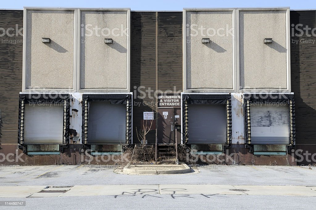 Warehouse Doors royalty-free stock photo