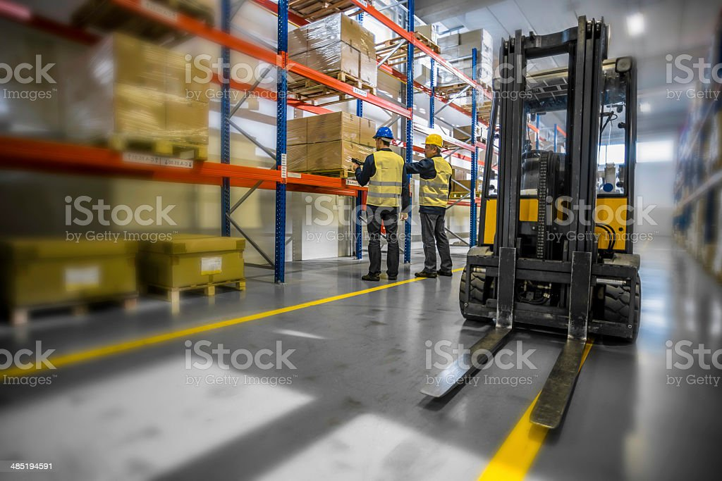 Warehouse Employees Working stock photo
