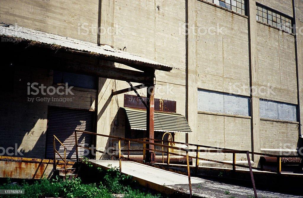 warehouse entrance royalty-free stock photo