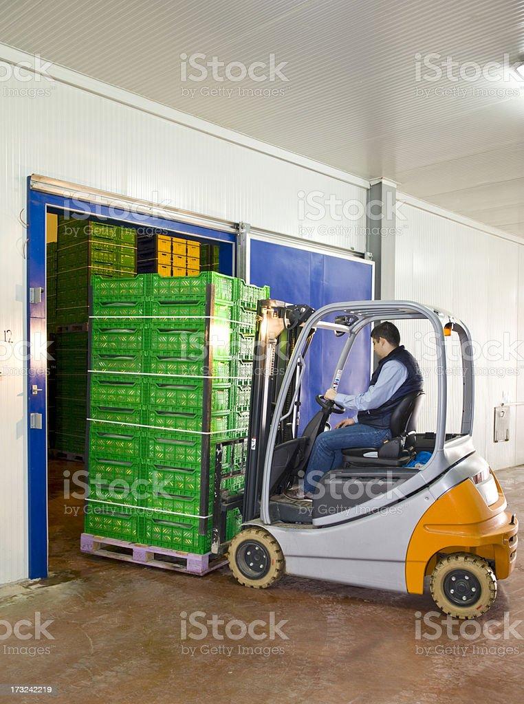 Warehouse entrance stock photo