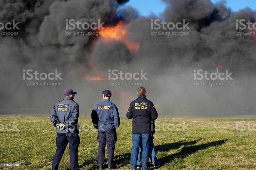 Warehouse Fire royalty-free stock photo