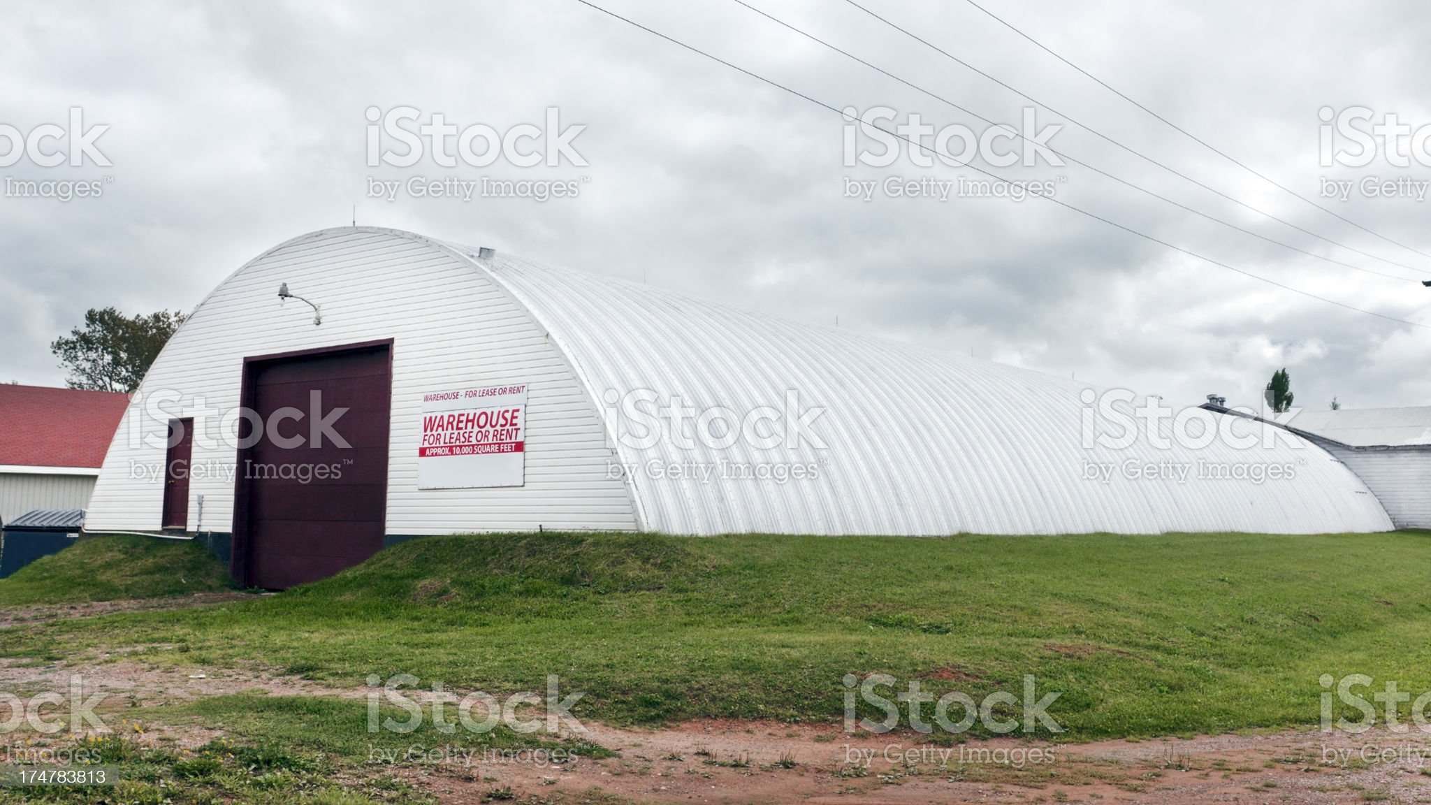 Warehouse for Lease royalty-free stock photo