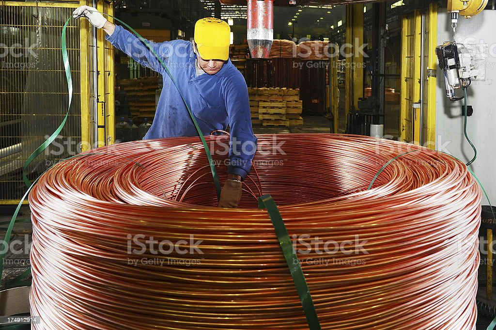 Warehouse in copper factory royalty-free stock photo