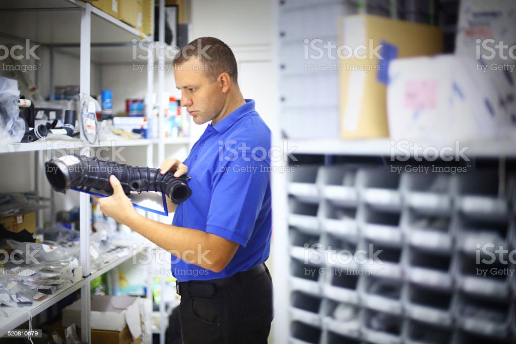 Warehouse inspection. stock photo