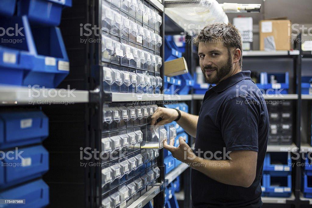 Warehouse keeper. royalty-free stock photo