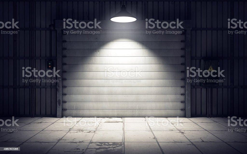 warehouse loading dock inside. 3D rendering stock photo