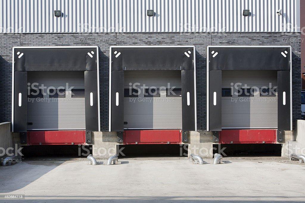 Warehouse loading dock stock photo