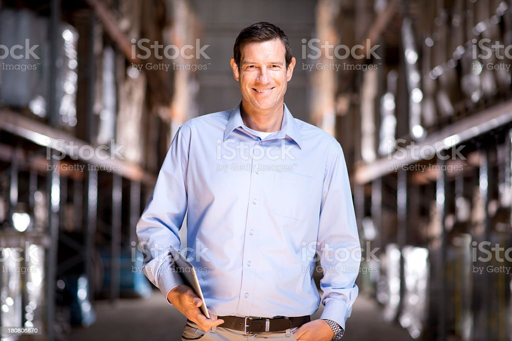 warehouse manager stock photo