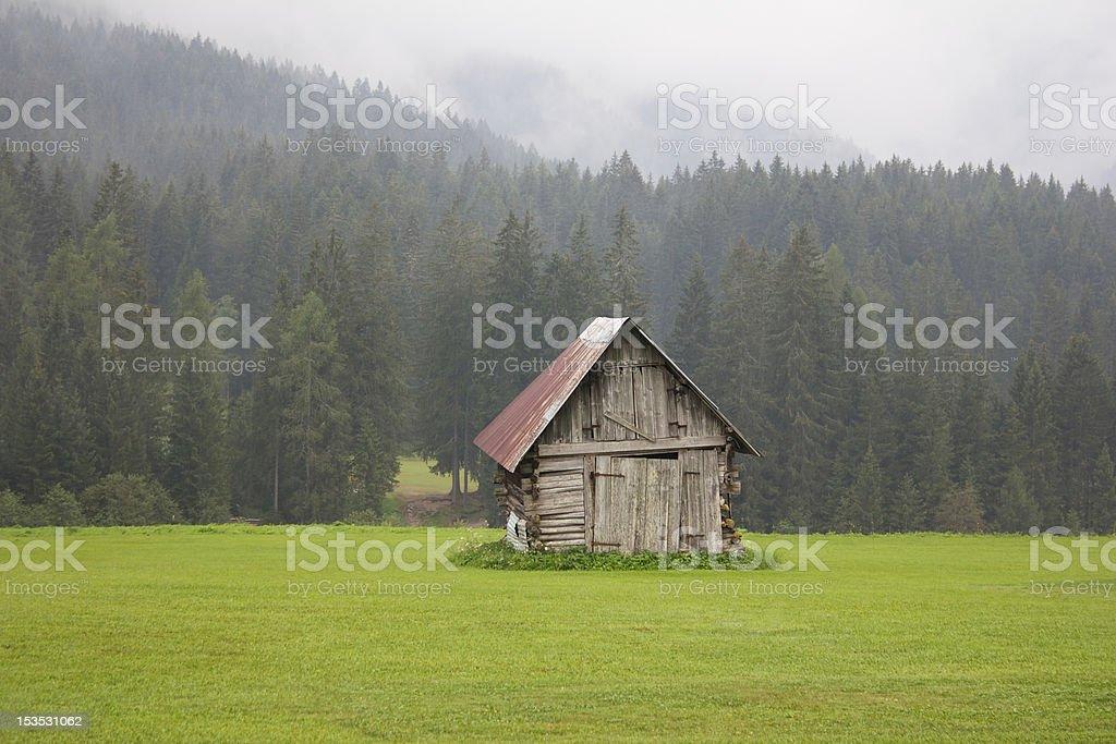 Warehouse of mountains stock photo