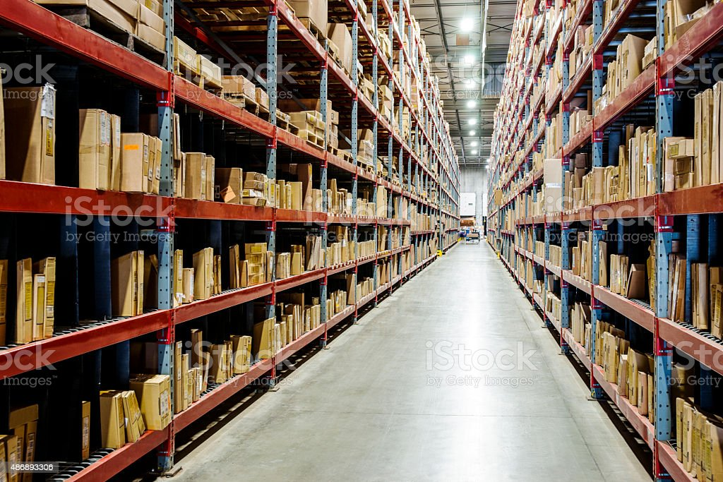 Warehouse or distribution center stock photo
