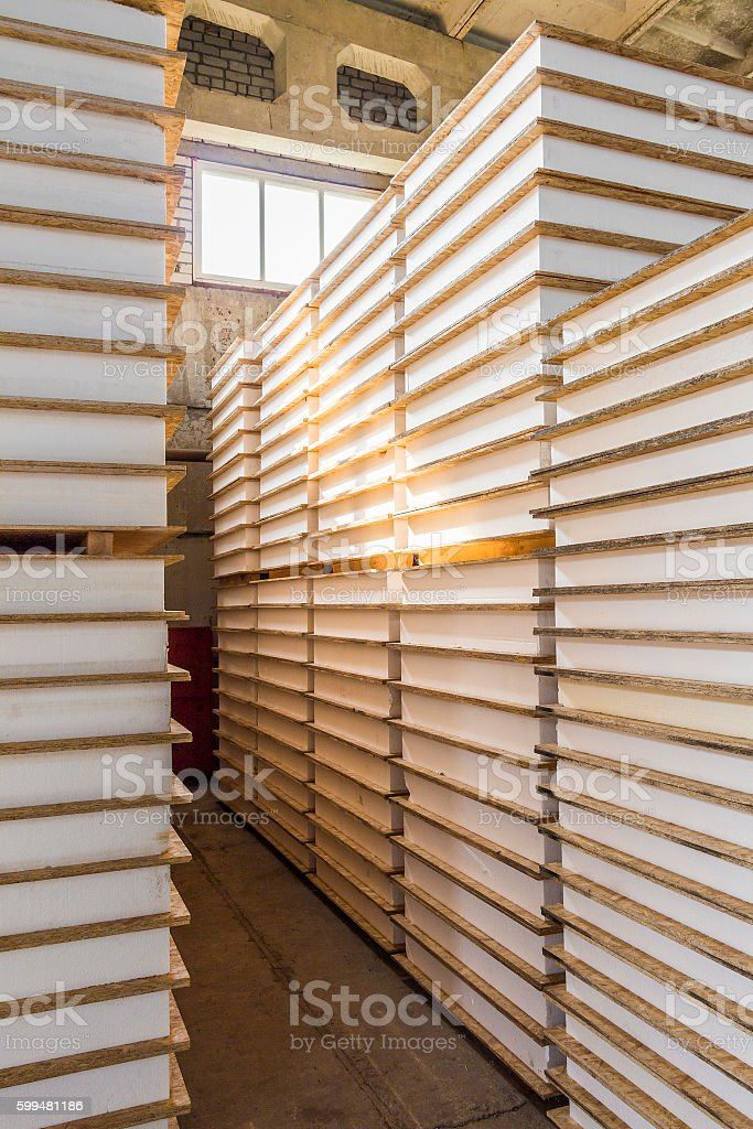 Warehouse panels for construction stock photo