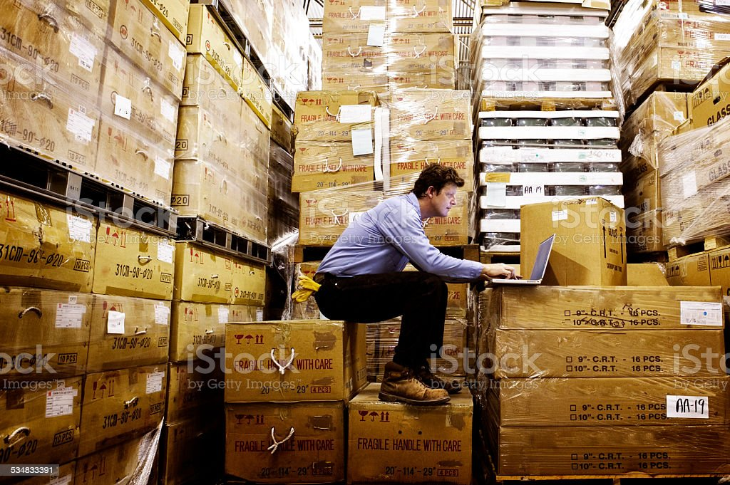 Warehouse stock photo
