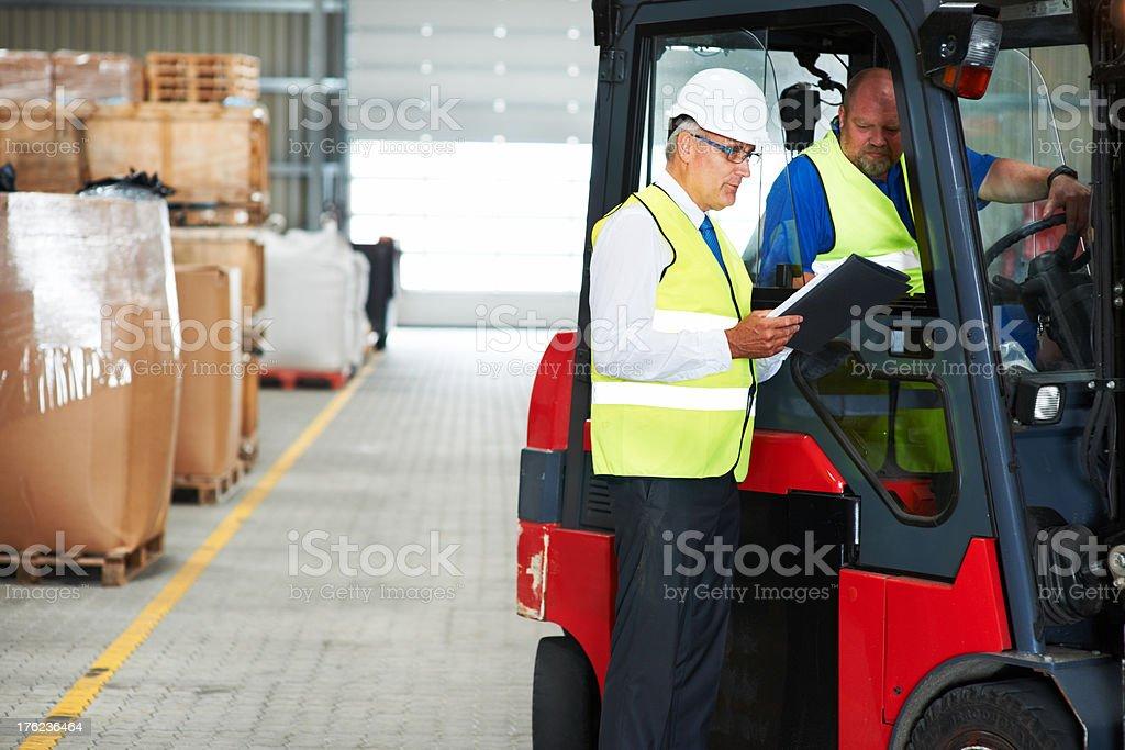 Warehouse police stock photo