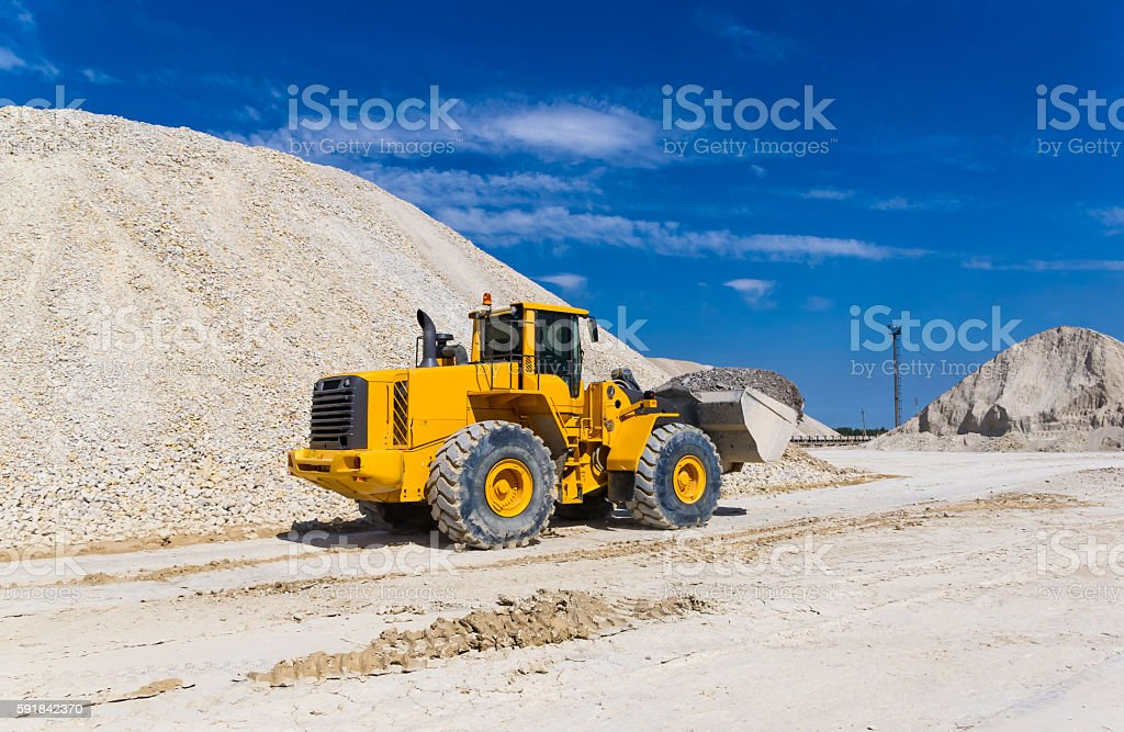 warehouse production in a quarry stock photo
