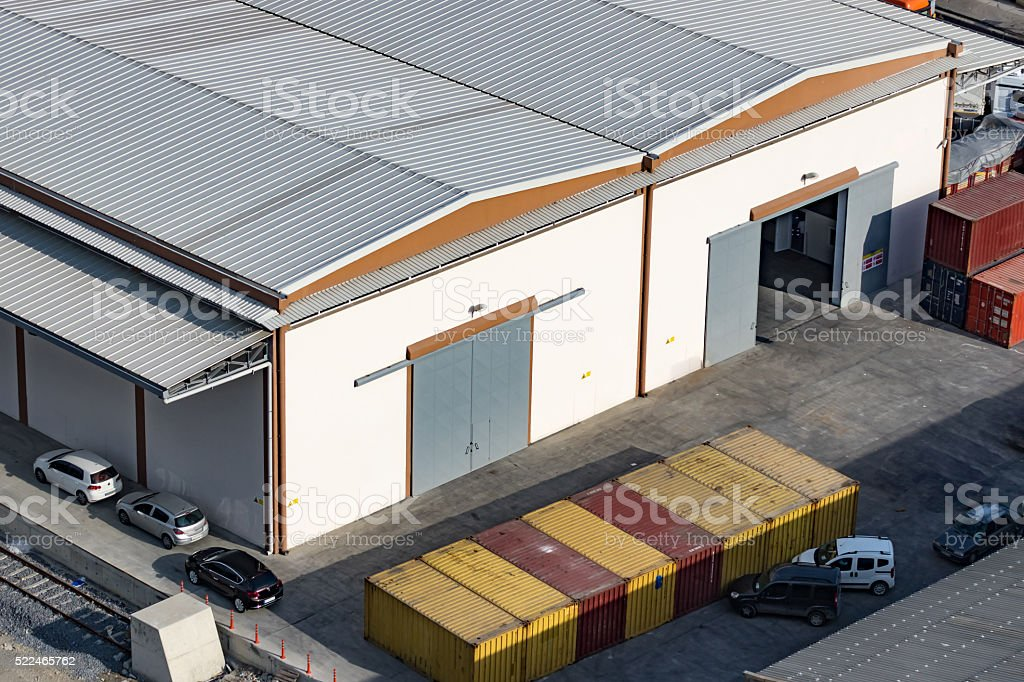 warehouse roof stock photo