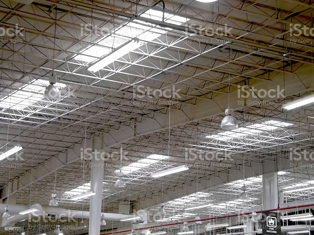 Warehouse Roof royalty-free stock photo