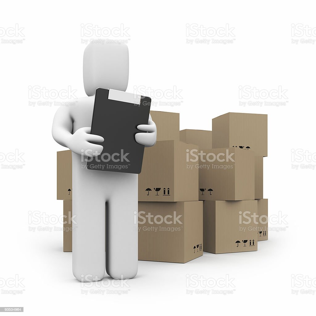 Warehouse services concept royalty-free stock photo