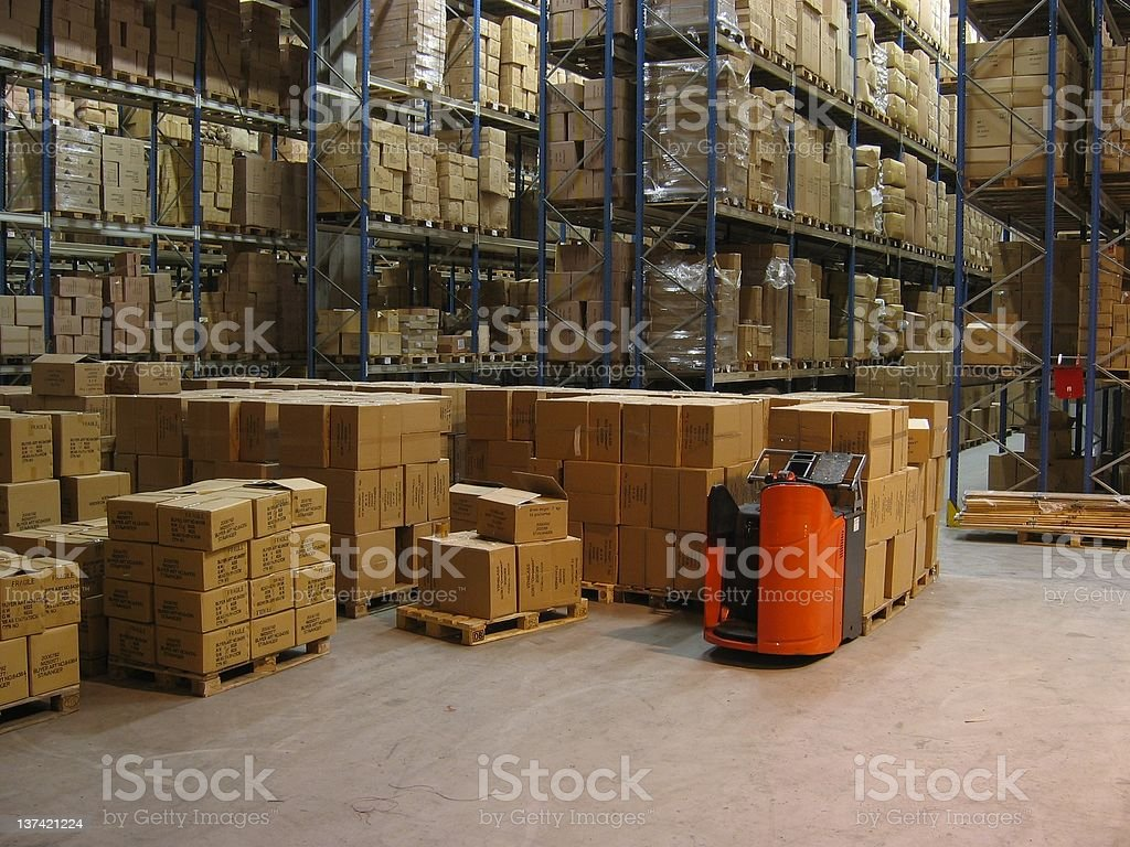 warehouse shelves royalty-free stock photo