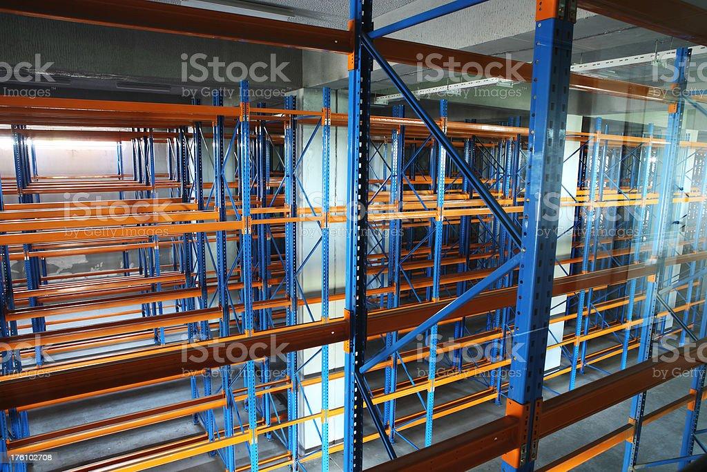 Warehouse Shelving System royalty-free stock photo