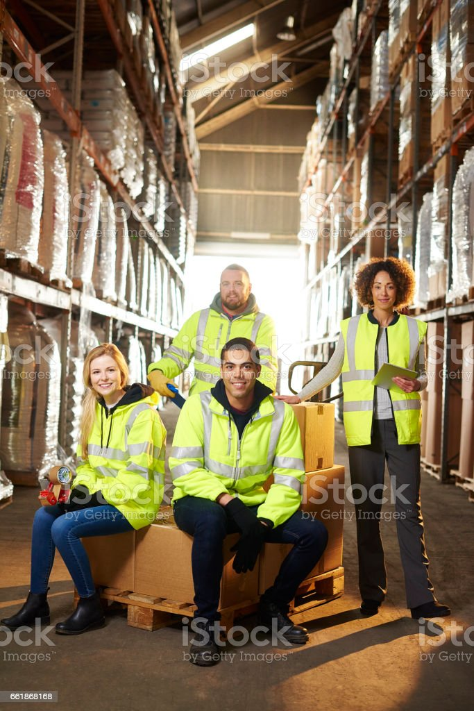 warehouse team stock photo