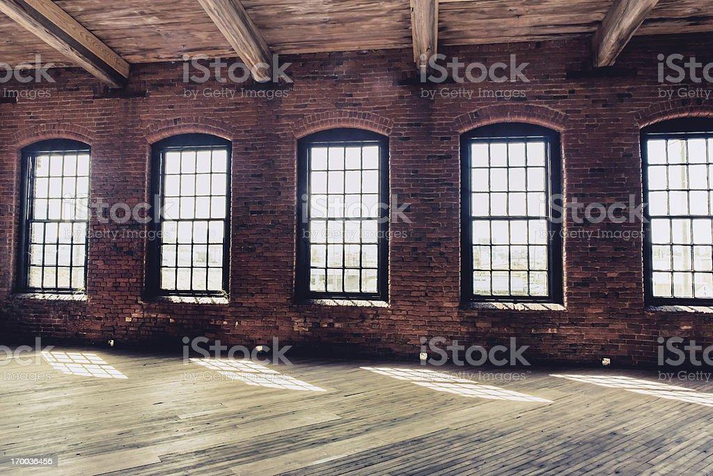 warehouse windows stock photo