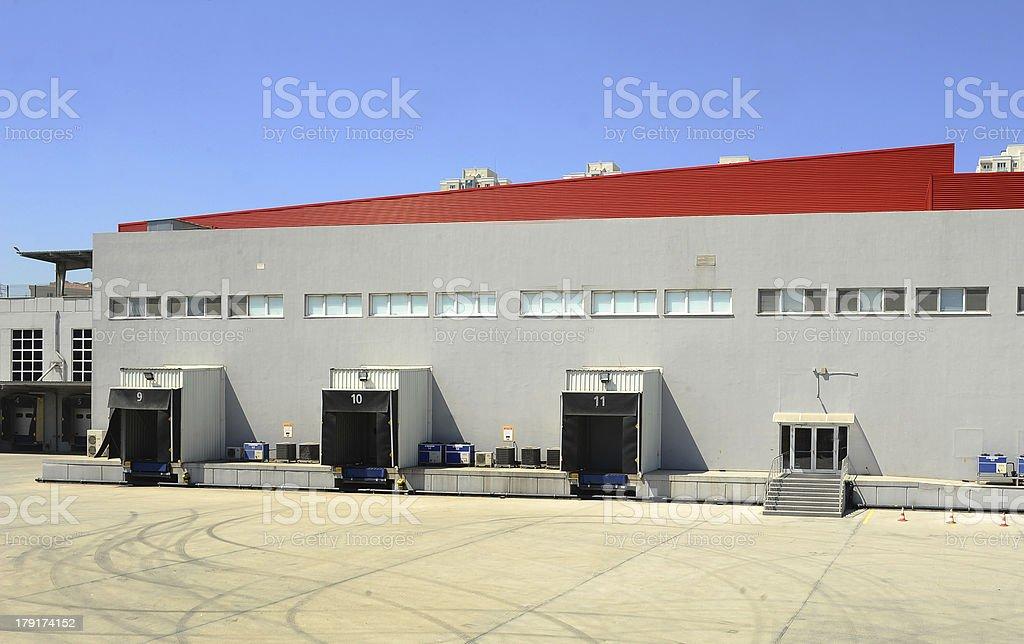 Warehouse with gates royalty-free stock photo