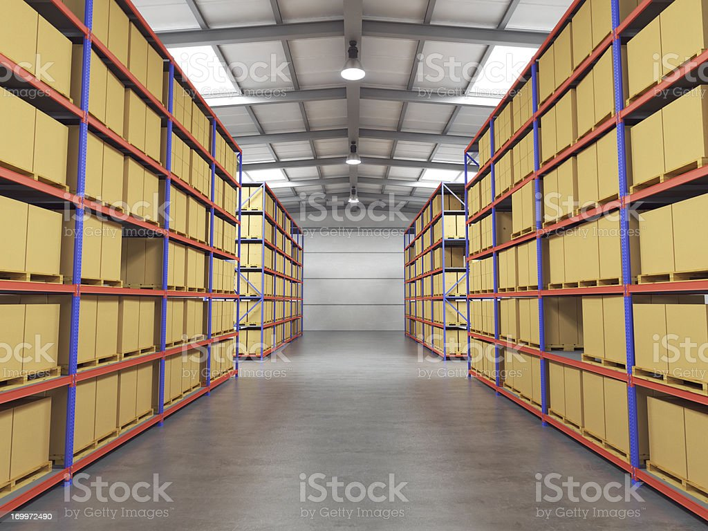 Warehouse With Goods stock photo