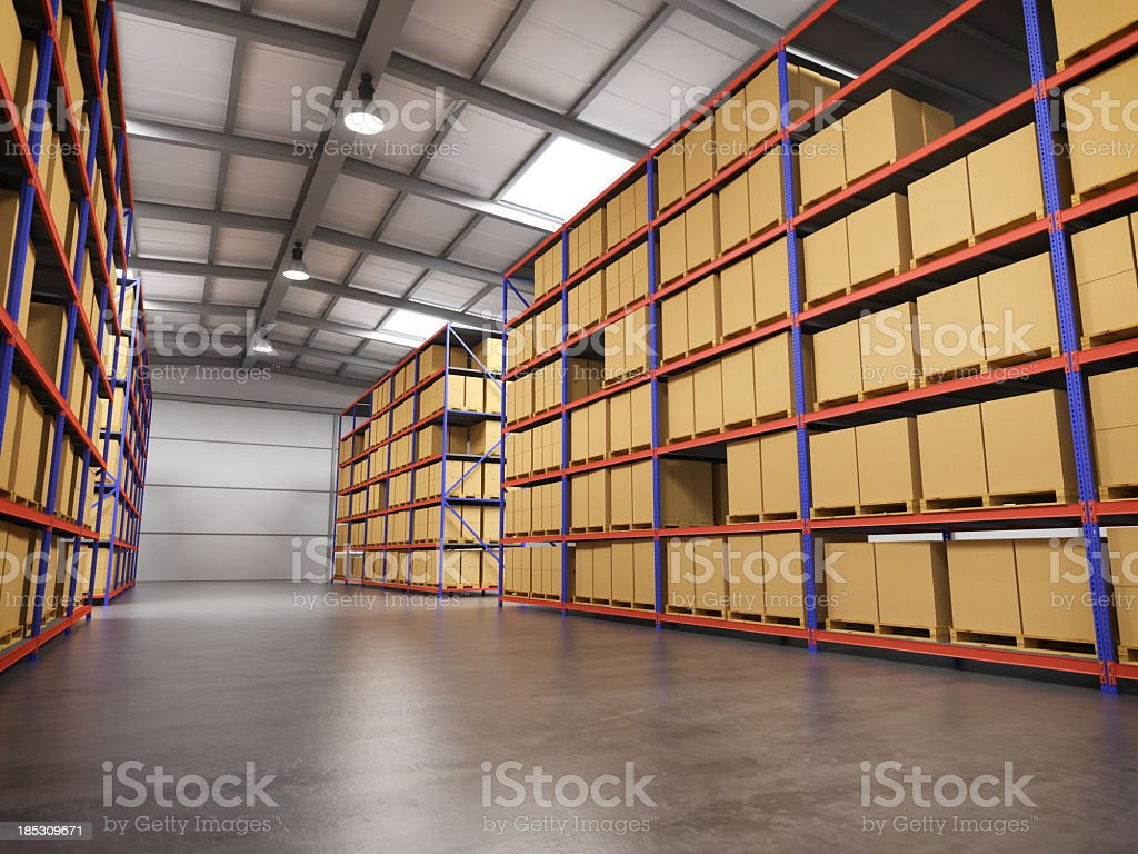 Warehouse With Goods royalty-free stock photo