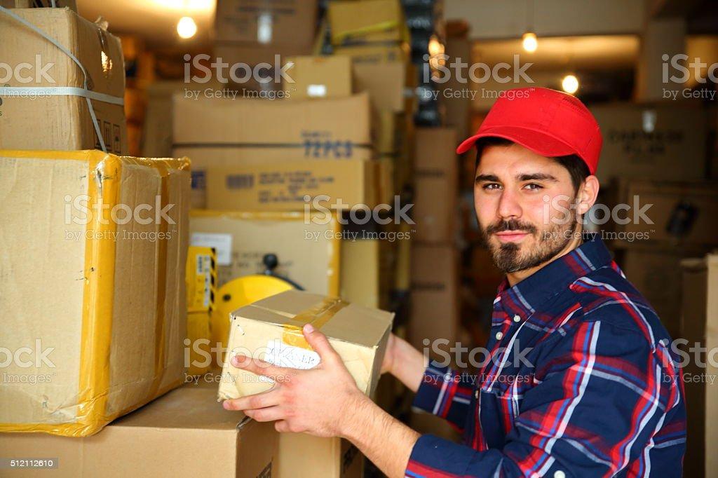 Warehouse worke stock photo