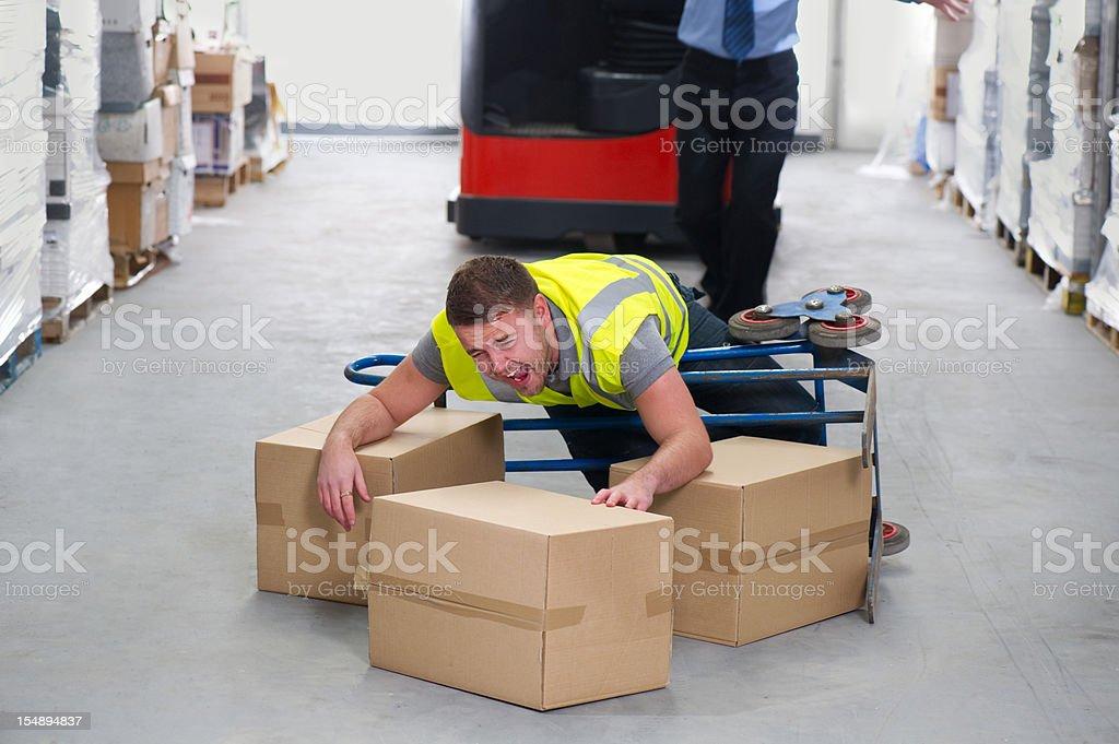Warehouse Worker Injury royalty-free stock photo