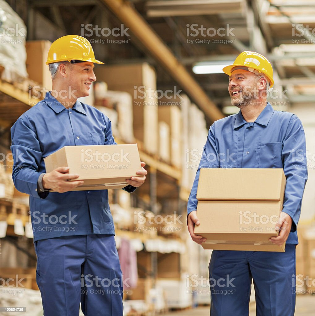 Warehouse workers royalty-free stock photo