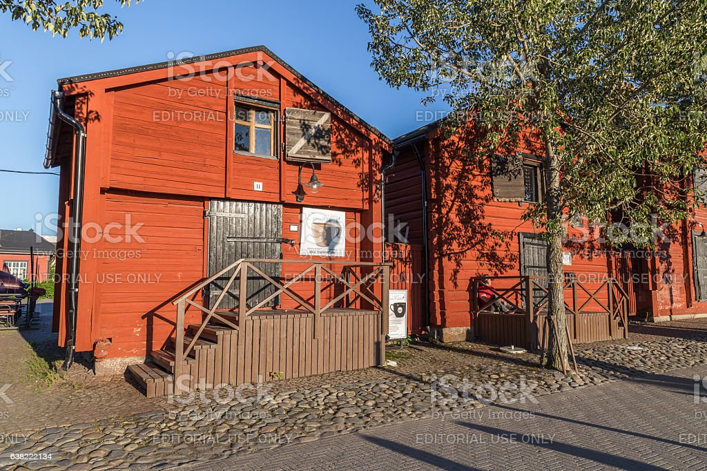 Warehouses in Oulu Finland stock photo