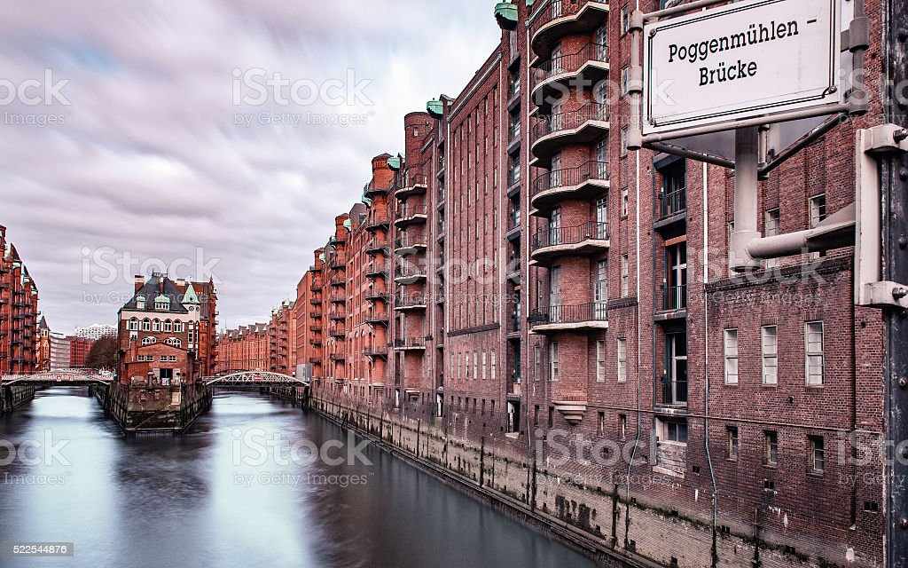 Warehouses in Speicherstadt in Hamburg, Germany stock photo