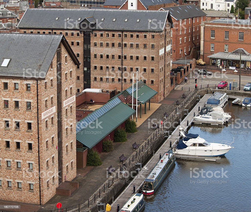 Warehouses of Gloucester Docks royalty-free stock photo