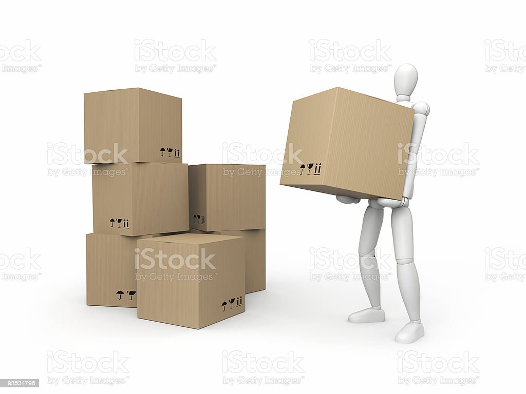 Warehousing concept royalty-free stock photo