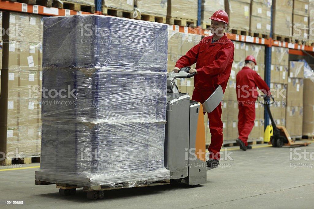 Warehousing - people at work stock photo