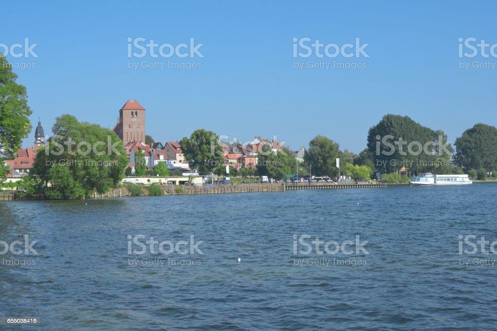 Waren,Muritz,Mecklenburg Lake District,Germany stock photo