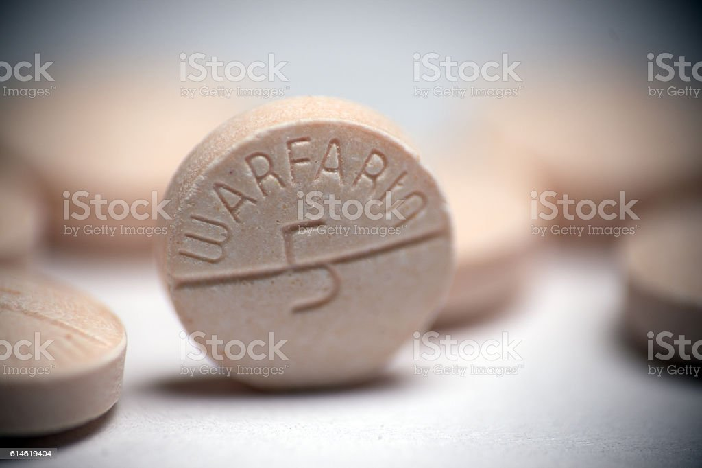 Warfarin Blood Thinner stock photo
