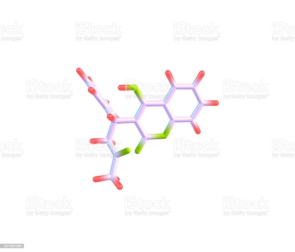 Warfarin molecule isolated on white stock photo