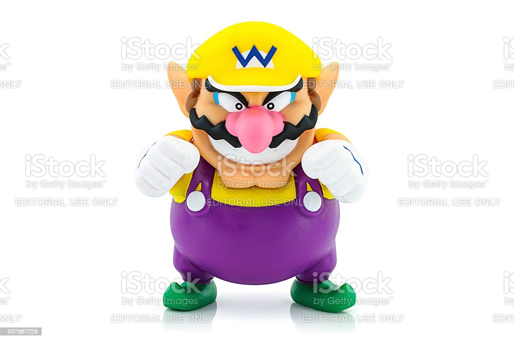 Wario Man figure character toy stock photo