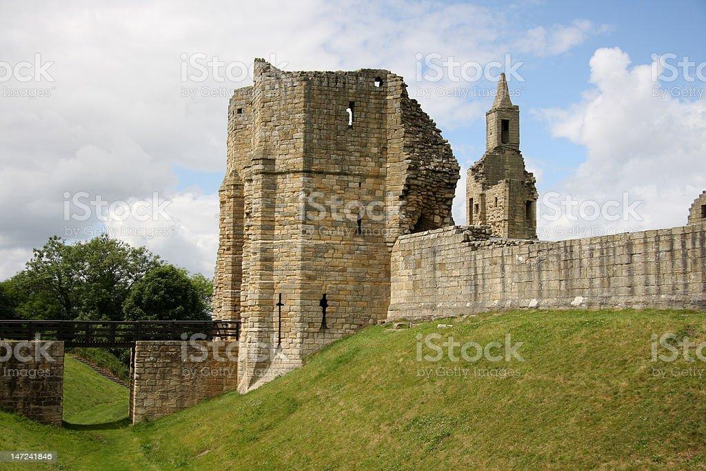 Warkworth Castle Entrance stock photo