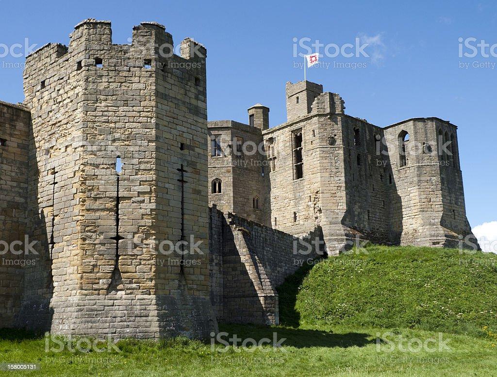 Warkworth Castle, Northumberland stock photo