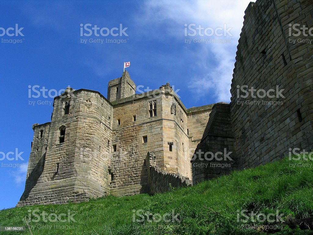Warkworth Castle Ruins royalty-free stock photo