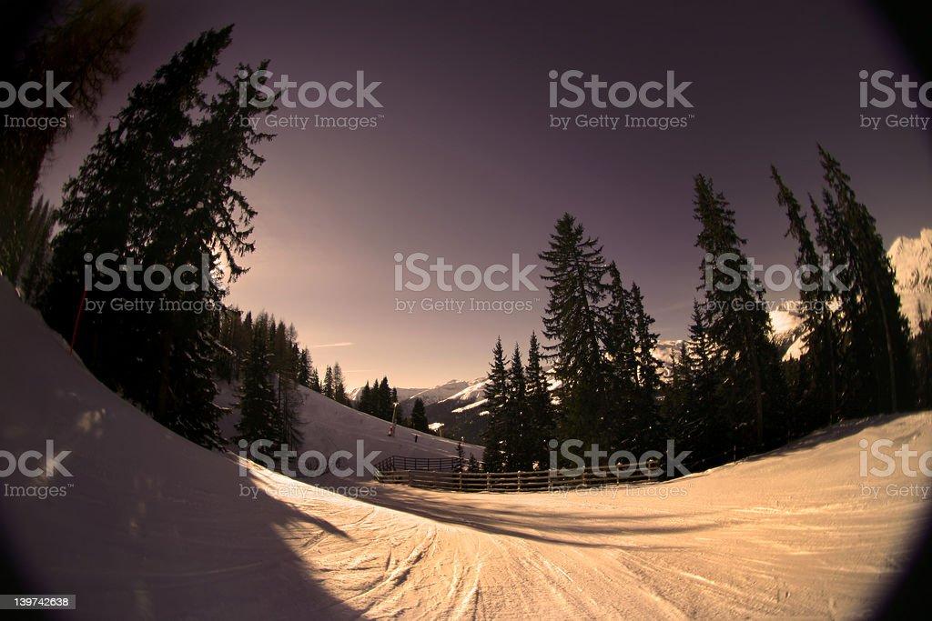 Warm Alpine Slope royalty-free stock photo