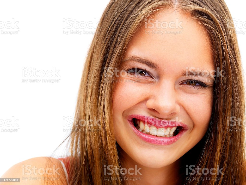 A warm and natural smile stock photo