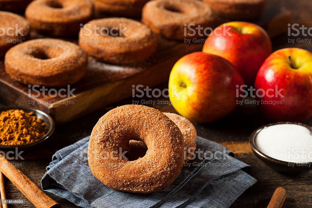 Warm Apple Cider Donuts stock photo